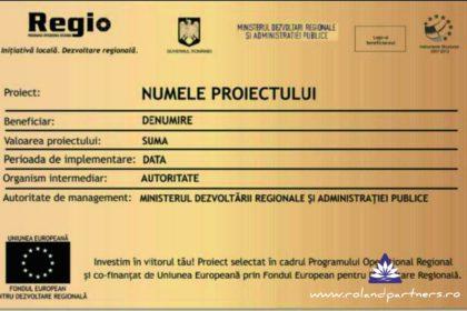Panou proiecte Regio